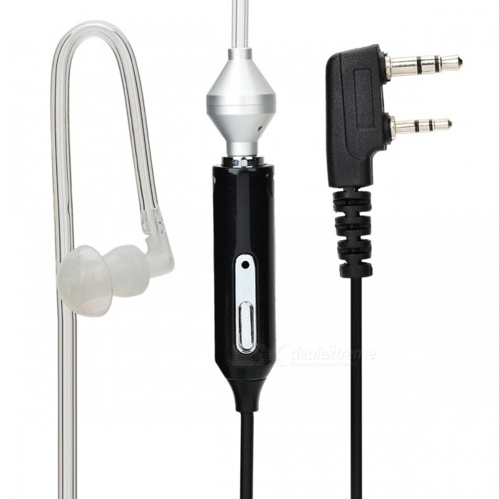 Anti-Radiation Noise Cancelling 2-Pin In-Ear Air Duct EarpieceWalkie Talkies Supplies<br>Form ColorBlackQuantity1 DX.PCM.Model.AttributeModel.UnitMaterialPVC + plasticCompatible BrandUniversal for all walkie talkies with 2-pin interfaceCompatible ModelUniversal for all walkie talkies with 2-pin interfacePacking List1 x 2-pin plug earpiece (Cable length: min. 50cm, max. 150cm)1 x Air duct (min. 23cm, max. 55cm)1 x Spare earbud cap<br>