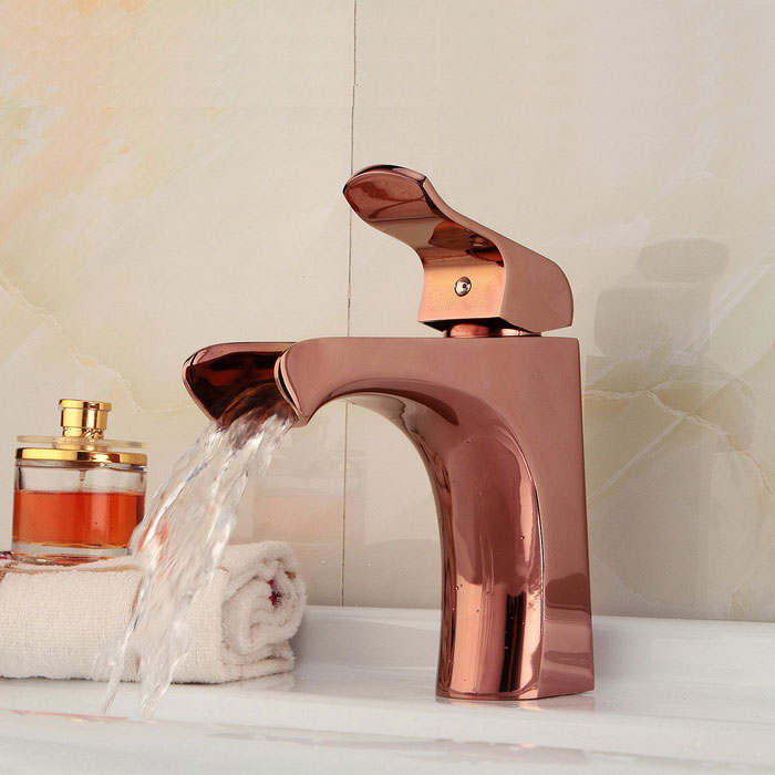Fashionable European Style Waterfall Bathroom Sink Faucet - Rose ...