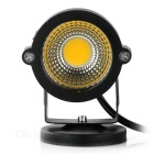 Waterproof 3W Warm White COB LED Lawn Lamp Spotlight - Black + Silver