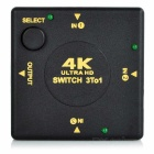 4K HDMI 1.4b 3 en 1-Out switcher - negro