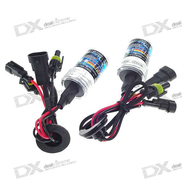 35W 9006 6000K Vehicle White Xenon HID Headlamp Complete Set (2-Pack)