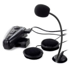 Helmet Bluetooth Motorcycle Interphone Intercom Headset - Black