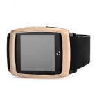 "Uwatch U18 1.54"" Screen Smart Watch w/ BT, Pedometer - Gold + Black"