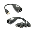 RJ45 Male to USB Adapter + RJ45 to 4-Port usb Hub Adapter