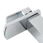 Heightening Chrome Finish Waterfall Bathroom Sink Faucet - Silver