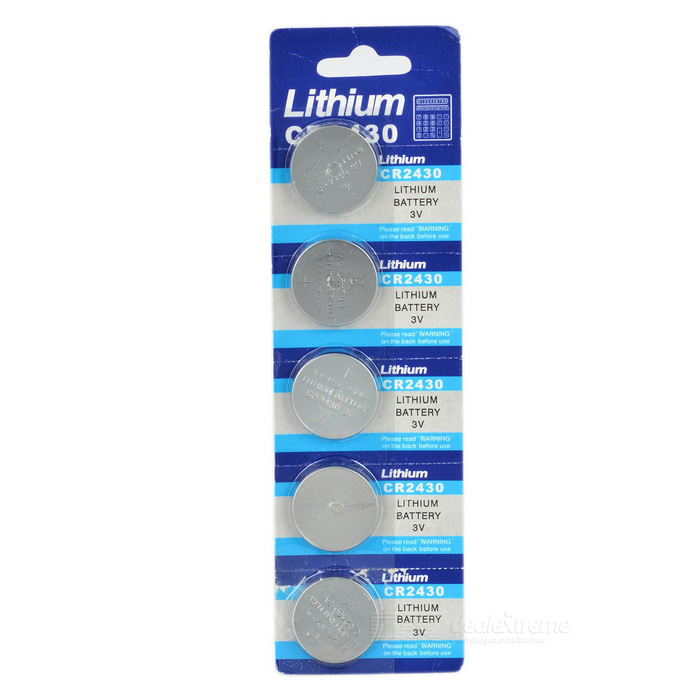 3V CR2430 Lithium Manganese Button Cell Battery (5PCS)