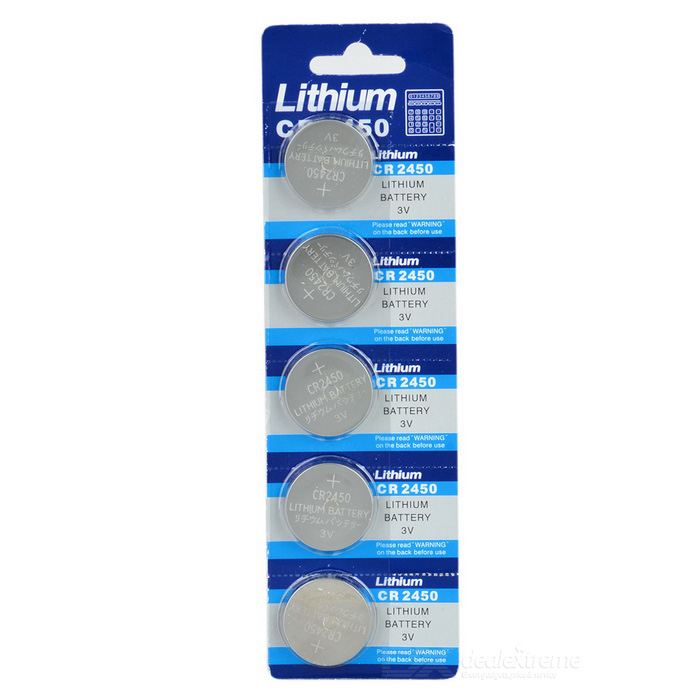 3V CR2450 Lithium Manganese Button Cell Battery (5PCS)
