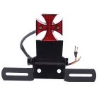 4.5W Motorcycle Modified Red LED Tail Light Brake Lamp - Black + Red
