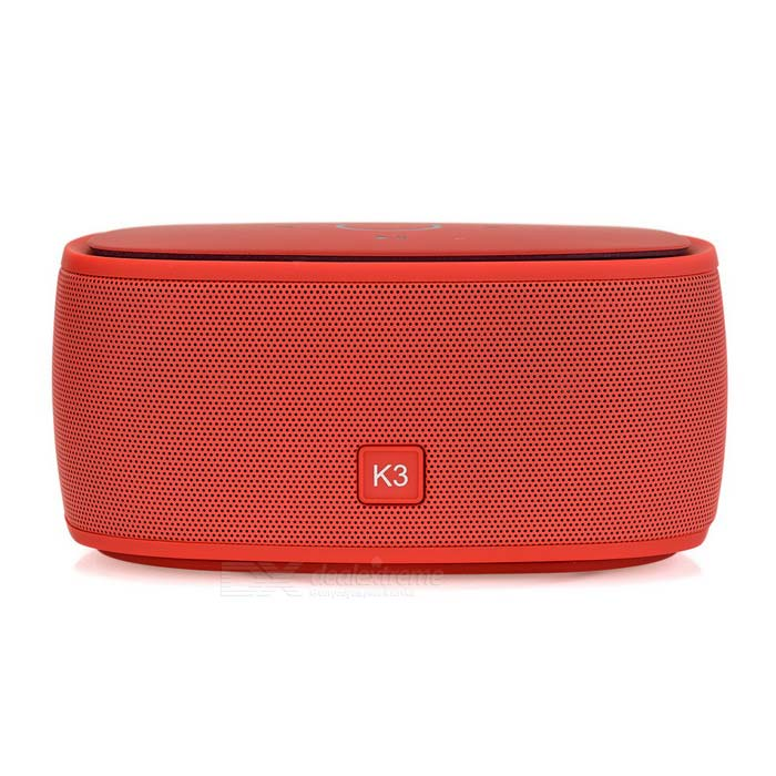 Wireless Bluetooth V3.0 Speaker w/ Hands-free, TF, 3.5mm - RedBluetooth Speakers<br>Form  ColorRedMaterialABSQuantity1 DX.PCM.Model.AttributeModel.UnitShade Of ColorRedBluetooth HandsfreeYesBluetooth VersionBluetooth V3.0Operating Range10mTotal Power6 DX.PCM.Model.AttributeModel.UnitChannels2.1Interface3.5mm,Others,Micro USBMicrophoneYesSNR&gt;=80dBSensitivity75dBFrequency Response100Hz~20KHzImpedance3 DX.PCM.Model.AttributeModel.UnitApplicable ProductsPS3,IPHONE 5,IPHONE 4,IPHONE 4S,IPHONE 3G,IPHONE 3GS,IPOD,IPAD,Cellphone,Tablet PC,Others,IPHONE 5S,IPHONE 5C,Any devices with bluetooth functionRadio TunerNoSupports Card TypeMicroSD (TF)Max Extended Capacity32GBBuilt-in Battery Capacity 1200 DX.PCM.Model.AttributeModel.UnitBattery TypeLi-polymer batteryTalk Time4~5 DX.PCM.Model.AttributeModel.UnitStandby Time8 DX.PCM.Model.AttributeModel.UnitMusic Play Time4~5hPower Supply5V, 120mACertificationCE, FCC, RoHSPacking List1 x Bluetooth speaker1 x USB data line (30cm)1 x Audio cable (30cm)<br>