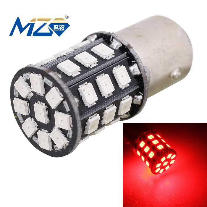 MZ 1157 6.6W LED Car Brake Light Red 660nm 330lm w/ Constant CurrentFog Lights<br>Color Temperature660nm - 1157ModelN/AQuantity1 DX.PCM.Model.AttributeModel.UnitMaterialPCBForm ColorBlackCompatible Car ModelUniversalRate Voltage12~24VPowerOthers,6.6WColor BINRedTheoretical Lumens360 DX.PCM.Model.AttributeModel.UnitActual Lumens330 DX.PCM.Model.AttributeModel.UnitConnector TypeOthers,1157Emitter TypeLEDChip BrandOthers,-Chip Type2835 SMD LEDTotal EmittersOthers,33Wavelength630~660 DX.PCM.Model.AttributeModel.UnitWaterproof FunctionNoApplicationBrake lightPacking List1 x LED light<br>
