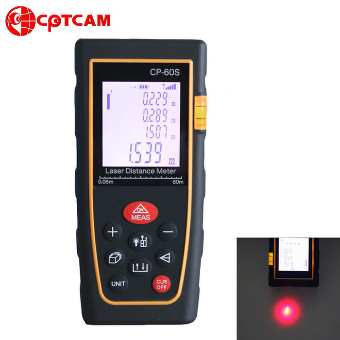 Buy CPTCAM CP-60S Portable 60m Laser Rangefinder Distance Measuring Meter with Litecoins with Free Shipping on Gipsybee.com