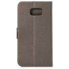 PU Wallet Case w/ Stand & Card Slots for Samsung S6 - Bronze