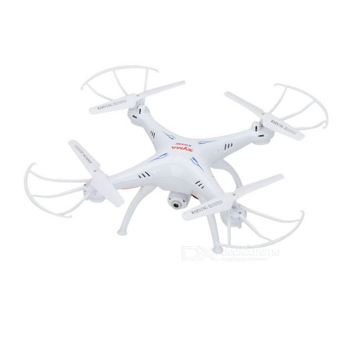 SYMA X5SW 2.4GHz 4-CH R/C Quadcopter w/Camera/Wi-Fi/More Kit - WhiteR/C Airplanes&amp;Quadcopters<br>Form ColorWhiteModelX5SWMaterialPlastic + electronic componentsQuantity1 DX.PCM.Model.AttributeModel.UnitShade Of ColorWhiteGyroscopeYesChannels Quanlity4 DX.PCM.Model.AttributeModel.UnitFunctionUp,Down,Left,Right,Backward,Sideward flight,Others,3D tumbleRemote TypeRadio ControlRemote control frequency2.4GHzRemote Control Range100 DX.PCM.Model.AttributeModel.UnitSuitable Age Grown upsCameraYesCamera Pixel0.3MPLamp YesBattery TypeLi-ion batteryBattery Capacity500 DX.PCM.Model.AttributeModel.UnitCharging Time100 DX.PCM.Model.AttributeModel.UnitWorking Time8 DX.PCM.Model.AttributeModel.UnitRemote Controller Battery TypeAARemote Controller Battery Number4 (not included)Remote Control TypeWirelessModelMode 2Packing List1 x Aircraft1 x Remote controller (1.8 screen)1 x Wi-Fi camera4 x Landing gears4 x Protection covers1 x USB cable (80+/-2cm)4 x Blades1 x Phone holder1 x Screwdriver1 x Chinese user manual<br>
