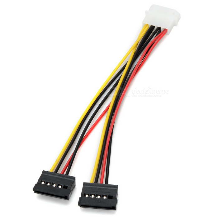 SATA 1 to 2 Serial Port Power Cable - Multi-Colored (19cm)