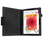 Protective PU Case w/ Stand for Microsoft Surface 3 - Black