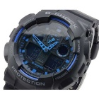 Genuine Casio G-Shock GA-100-1A2ER Men's Analogy-Digital Quartz Watch - Black