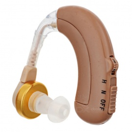 Rechargeable-BTE-Earhook-Hearing-Aid-w-4-Mode-Volume-Control-Brown