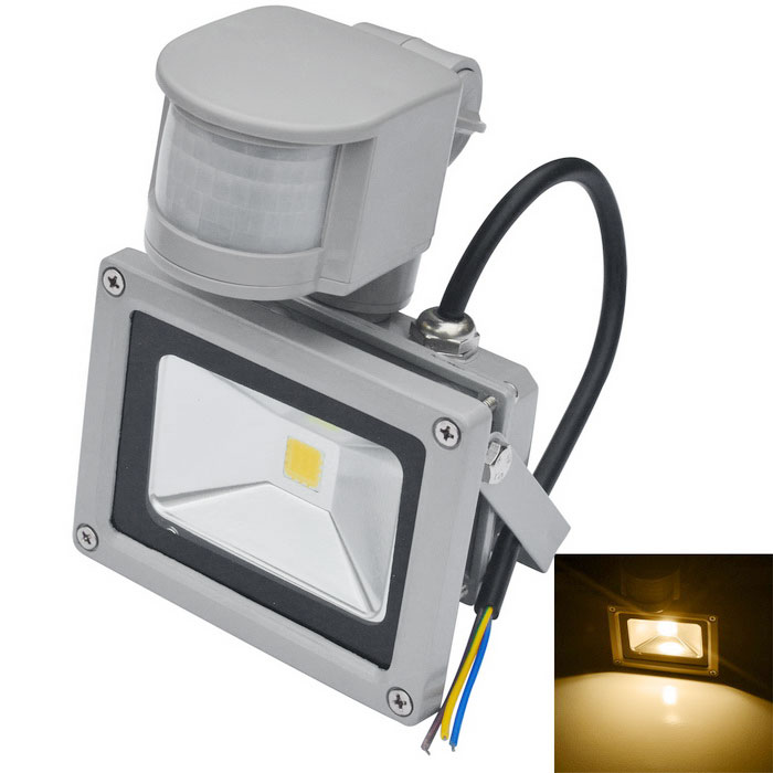 JIAWEN Waterproof 10W LED Human Body IR Induction Floodlight - GreyFloodlights<br>Form  ColorGreyColor BINWarm WhiteMaterialAluminumQuantity1 DX.PCM.Model.AttributeModel.UnitWaterproof LevelIP65Power10WRated VoltageAC 85-265 DX.PCM.Model.AttributeModel.UnitConnector TypeOthers,WiringEmitter TypeCOBTotal Emitters1Theoretical Lumens800-900 DX.PCM.Model.AttributeModel.UnitActual Lumens800-900 DX.PCM.Model.AttributeModel.UnitColor Temperature12000K,Others,3000-3200KDimmableNoBeam Angle120 DX.PCM.Model.AttributeModel.UnitOther FeaturesPower cord: 30cm±2cmPacking List1 x LED floodlight<br>