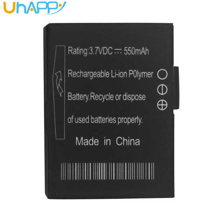 Uhappy UW1 WATCH Rechargeable 550mAh 3.7V Li-polymer Battery - Black