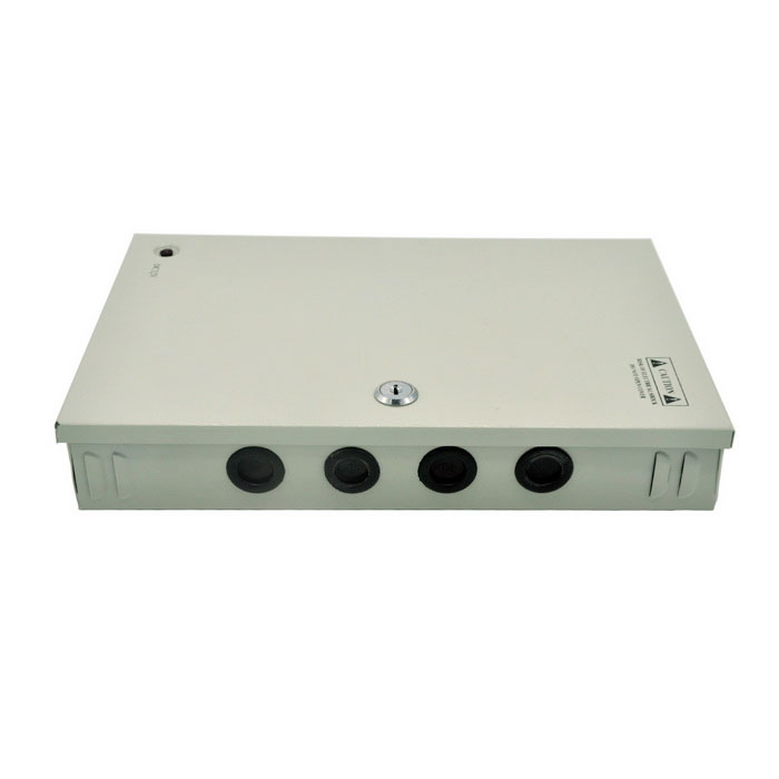 18-Ch 12V 15A 180W CCTV Power Supply Box for CCTV Camera - Silver