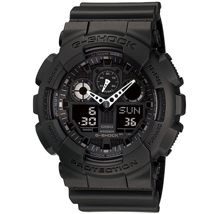 Genuine Casio G-Shock GA-100-1A1ER Analog Digital Wrist Watch - Black