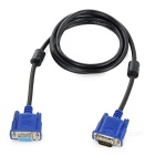VGA Cable w/ Magnetic Rings for LCD Monitor - Black + Blue (1.53m)