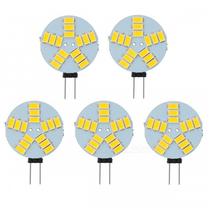 G4 3W Car LED Reading Lamps Warm White 3000K Cold White 7000K 180lm SMD 5730 (5PCS)