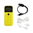 "MELROSE C1 1.77"" LCD GSM Phone w/ 32MB RAM, 2800mAh Battery - Yellow"