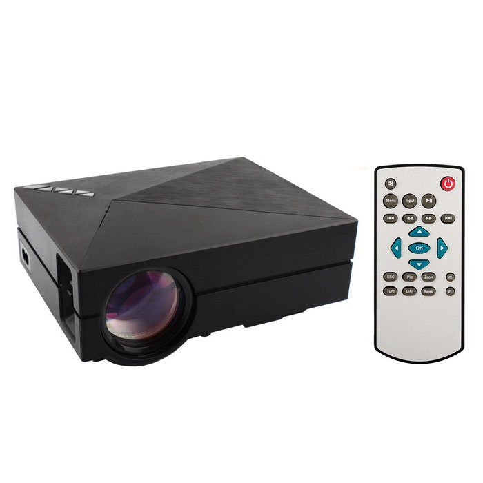GM60 Mini Projetor Digital Home Theater HD Com HDMI, USB, SD