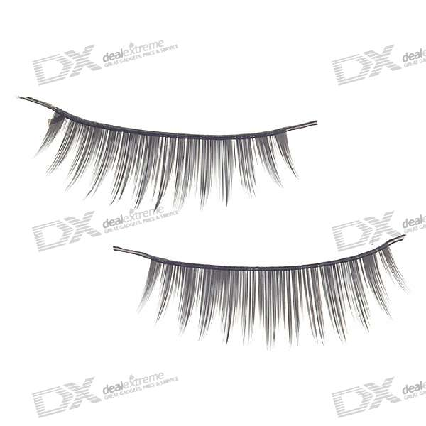 Black False Eyelashes for Beauty Makeup (10-Pair)