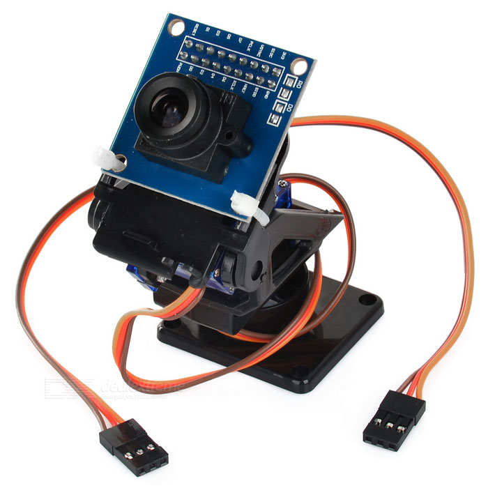 2-Axis FPV Camera Cradle Head + OV7670 Camera Set for Robot / R/C CarOther Accessories<br>Form  ColorBlack + BlueModelN/AQuantity1 DX.PCM.Model.AttributeModel.UnitMaterialABSEnglish Manual / SpecYesDownload Link   http://pan.baidu.com/s/1gdEQXkZPacking List1 x Set of cradle head (25+/-2cm)1 x Set of screws<br>