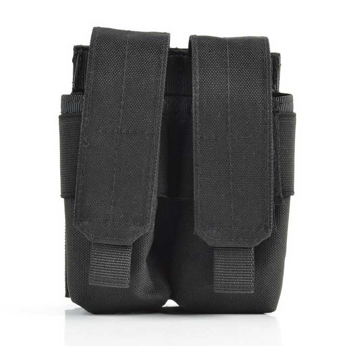 Outdoor 600D Tactical Stack Nylon Ammo Pouch for War Game - Black