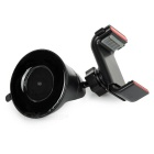 Multifunctional ABS Car Mount Phone Holder w/ Suction Cup - Black