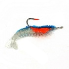 3g Shrimp Style Silicone Fishing Bait Hook - Blue + Transparent + Red