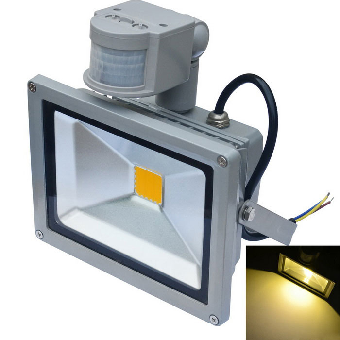 JIAWEN Waterproof 20W Warm White LED Human Body IR Sensor FloodlightFloodlights<br>Form  ColorGreyColor BINWarm WhiteMaterialAluminumQuantity1 DX.PCM.Model.AttributeModel.UnitWaterproof GradeIP65Power20WRated VoltageAC 85-265 DX.PCM.Model.AttributeModel.UnitConnector TypeOthers,WiringEmitter TypeCOBTotal Emitters1Theoretical Lumens1600~1700 DX.PCM.Model.AttributeModel.UnitActual Lumens1600~1700 DX.PCM.Model.AttributeModel.UnitColor Temperature12000K,Others,3000~3200KDimmableNoBeam Angle120 DX.PCM.Model.AttributeModel.UnitOther FeaturesPower cord: 30+/-2cmPacking List1 x LED floodlight<br>