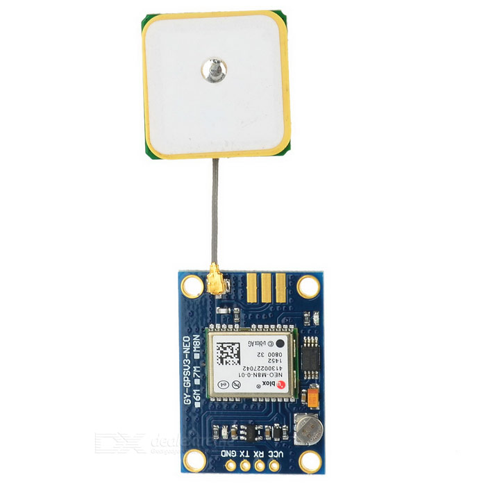 GYGPSV3-M8N u-blox NEO-M8N-001 Flight Controller GPS Module - BlueOther Accessories<br>Form ColorBlueModelN/AQuantity1 DX.PCM.Model.AttributeModel.UnitMaterialCopper-clad plate + componentsEnglish Manual / SpecYesDownload Link   http://pan.baidu.com/s/1nt3PD8XPacking List1 x GPS module<br>