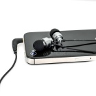 SSK EP-AM11 3.5mm Earphones w/ Mic for IPHONE - Silver Grey + Black