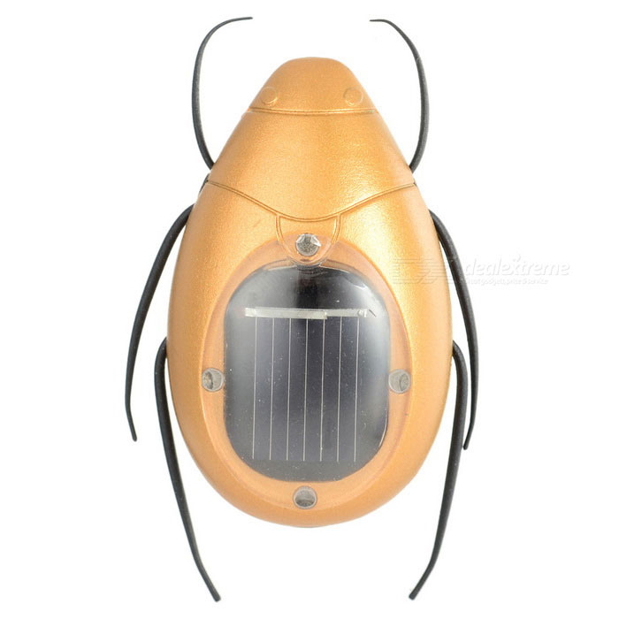 Educational Solar Powered Scarab Toy for Kids - Golden + Black