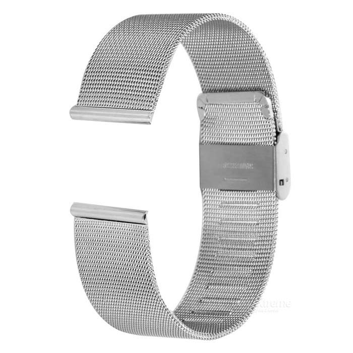 Mini Smile Refined Mesh Watchband for APPLE WATCH 42mm - SilverWearable Device Accessories<br>Form ColorSilverQuantity1 DX.PCM.Model.AttributeModel.UnitMaterialStainless steelOther FeaturesNot equipped with attachment.Packing List1 x Watchband<br>