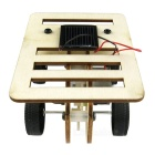 Solar Powered Wooden Small Car Toy - Wood Color + Black