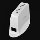 Cwxuan YC-CDA7 Universal 5V Output 7-Port USB Power Adapter Charger - White (100~240V / US Plugss)