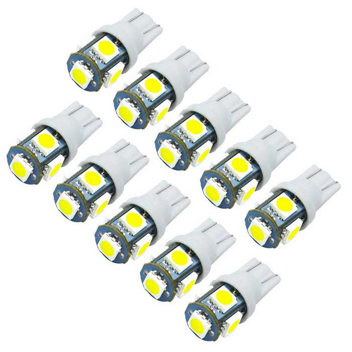 JIAWEN T10 1.5W Car LED Bulbs White Light 6500K 120lm SMD 5050 (10PCS) for sale in Bitcoin, Litecoin, Ethereum, Bitcoin Cash with the best price and Free Shipping on Gipsybee.com