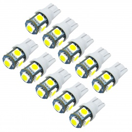 JIAWEN T10 1.5W Car LED Bulbs White Light 6500K 120lm SMD 5050 (10PCS)