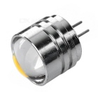 G4 2W 3-COB Mini Warm White Light Spotlight - Silver (5 CPS / 12V)