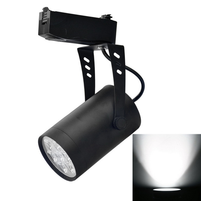 JIAWEN 7W 7-COB LED Track Light White Light 6500K 700lm - Black