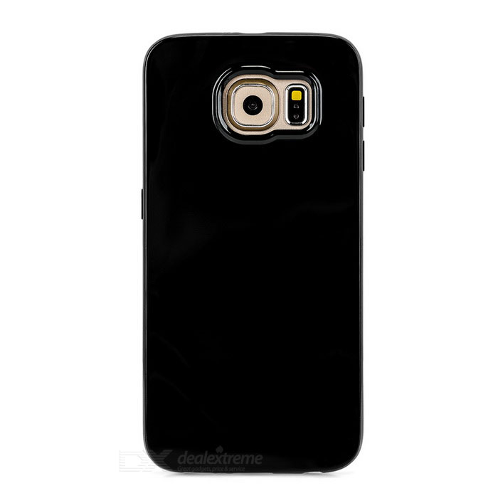 Mini Smile TPU Back Case Cover for Samsung Galaxy S6 - BlackTPU Cases<br>Form ColorBlackQuantity1 DX.PCM.Model.AttributeModel.UnitMaterialTPUShade Of ColorBlackCompatible ModelsSamsung Galaxy S6DesignSolid ColorStyleBack CasesPacking List1 x Back case<br>