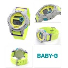 Genuine Casio BABY-G G-LIDE BGD-180-3ER Ladies' Surfing Digital Watch - Grey Dial and Yellow Band