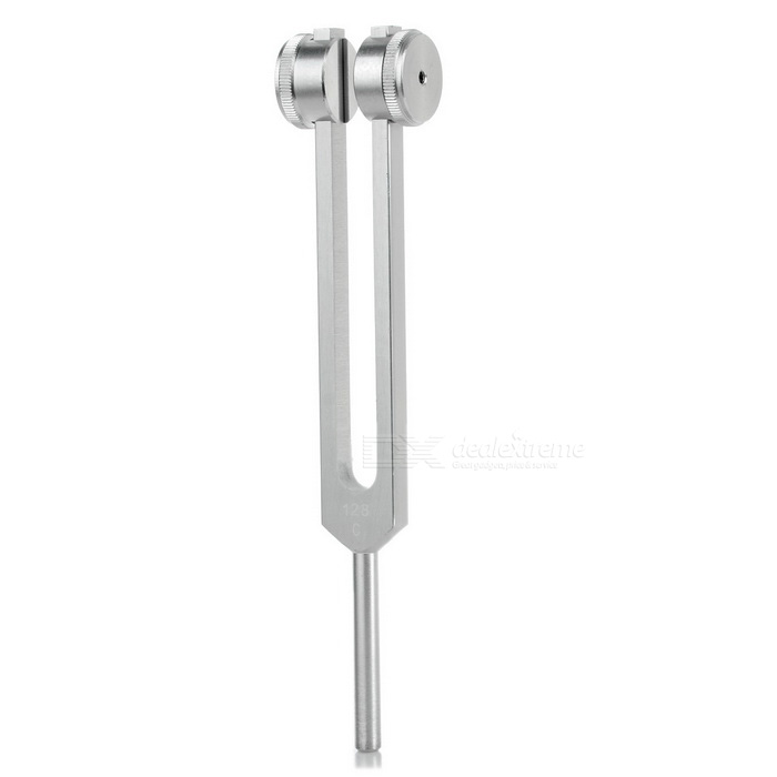 128Hz Frequency Medical Tuning Fork - Silvery White