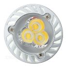 JIAWEN GU10 3W dimmable LED proyector blanco caliente 3200K (ac 85 ~ 265V)