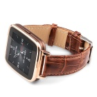 "OUKITEL A28 1.54"" IPS Smart Watch w/ Heart Rate Monitor - Gold + Brown"